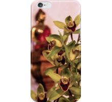 Buddha and orchids iPhone Case/Skin