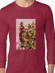 Buddha and orchids Long Sleeve T-Shirt