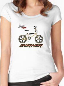 super tuff burner Women's Fitted Scoop T-Shirt