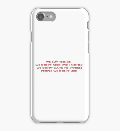 Famous Movie Quote Fight Club iPhone Case/Skin