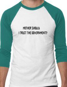 Pink Floyd Mother Should I Trust The Government T Shirt Men's Baseball ¾ T-Shirt
