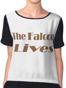 The Falcon Lives Chiffon Top