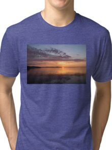 My World This Morning - Toronto Skyline at Sunrise Tri-blend T-Shirt