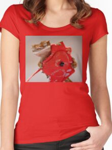 Inca and the Red Dragon Women's Fitted Scoop T-Shirt