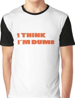 Dumb Stupid Simple Funny Cool Orange Tetx Graphic T-Shirt