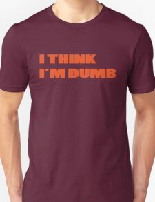 Dumb Stupid Simple Funny Cool Orange Tetx T-Shirt