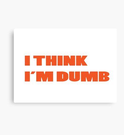 Dumb Stupid Simple Funny Cool Orange Tetx Canvas Print