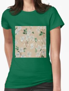 floral tøp Womens Fitted T-Shirt