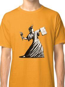 Bansky Liberty (black and white) Classic T-Shirt