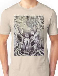 they danced under the light of the moon cat art Unisex T-Shirt
