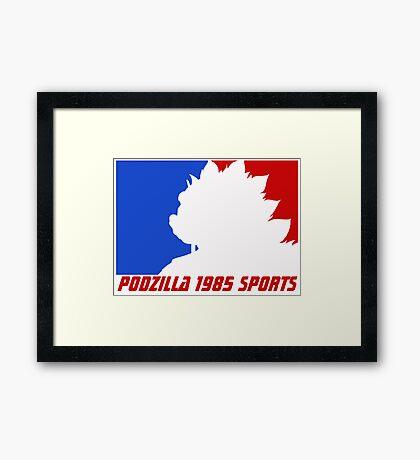 Podzilla 1985 Sports Framed Print