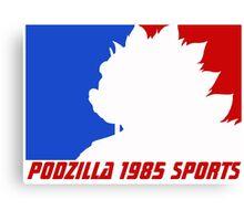 Podzilla 1985 Sports Canvas Print