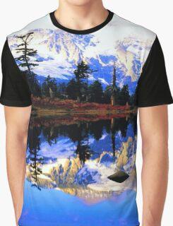 Glacier Mountain Graphic T-Shirt