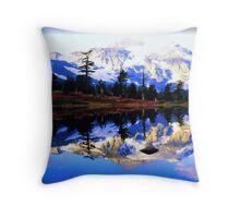 Glacier Mountain Throw Pillow