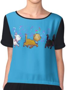Kitten Trio Chiffon Top