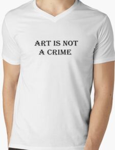 Art Artist Freedom Of Speech Mens V-Neck T-Shirt