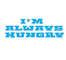 Hungry Food Funny Fat People Gym Fitness Photographic Print