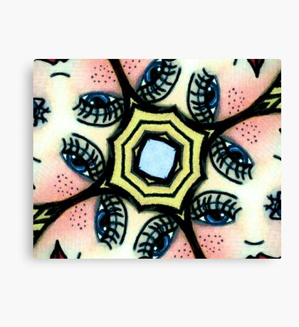 Kaleidoscope freckled faces Canvas Print