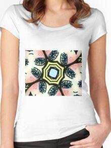 Kaleidoscope freckled faces Women's Fitted Scoop T-Shirt