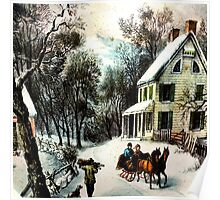 Winter In old Virginia Poster