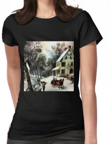 Winter In old Virginia Womens Fitted T-Shirt