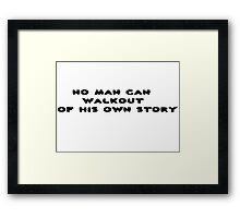 Inspirational Clever Wise Movie Quote Cartoon Framed Print