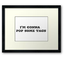 Macklemore Pop Song Lyrics Framed Print