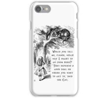 Which way should I go? iPhone Case/Skin