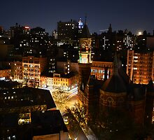 Moon Rising Over East Villiage, NYC by merrywrath