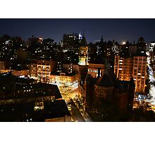 Moon Rising Over East Villiage, NYC Photographic Print