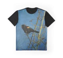Red-winged Black Bird Singing Graphic T-Shirt
