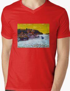 Ring. Cork Mens V-Neck T-Shirt