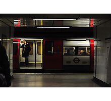 Surrounded but Alone on the Tube Photographic Print