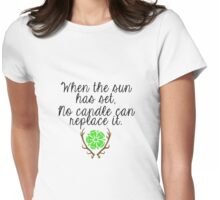 When the Sun sets Womens Fitted T-Shirt