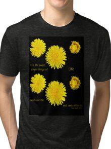 Dandelion Simplicity Tri-blend T-Shirt
