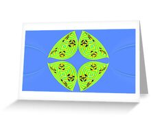 Green and Blue Fun Greeting Card
