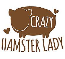 Crazy Hamster lady Photographic Print