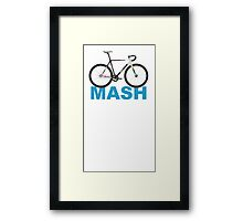 Fixie Mash Bike Framed Print