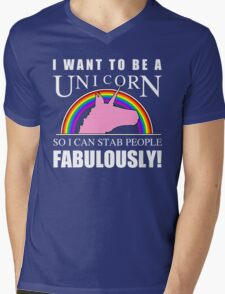 Unicorn Humor Mens V-Neck T-Shirt