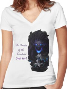 kindred Women's Fitted V-Neck T-Shirt