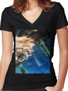 Mid Century Modern Apocalypse  Women's Fitted V-Neck T-Shirt