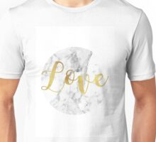 Gold and marble love Unisex T-Shirt