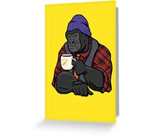 Grumpy Gorilla's Banana Brew Greeting Card