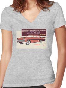 Chrysler Royal Women's Fitted V-Neck T-Shirt