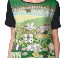 Permaculture Farm Chiffon Top