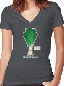 Information Leek Women's Fitted V-Neck T-Shirt