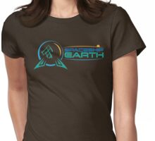 Space Ship Earth Womens Fitted T-Shirt