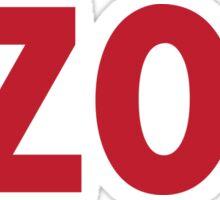 Kalamazoo Kzoo Red Sticker