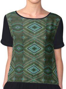 green abstract pattern Chiffon Top