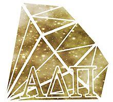 ADPi Diamond - Gold Photographic Print